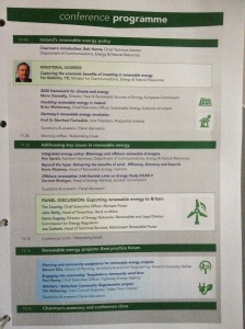 This is the agenda for the Irish Renewable Energy Summit 2014