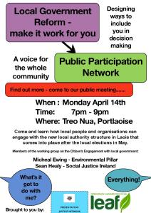 Local Government Reform event flier